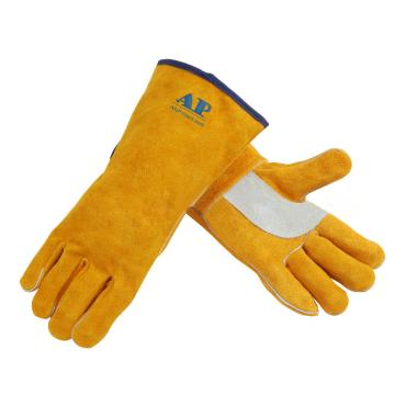 金黄色护掌烧焊手套,尺码:L