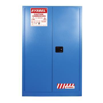 SYSBEL/西斯贝尔 弱腐蚀性液体安全柜,FM认证,45加仑/170升,蓝色/手动,不含接地线,WA810450B