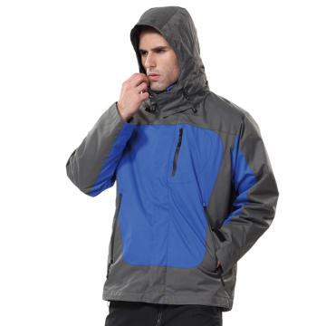安大叔B300高级防水提花涂层布防寒服,蓝拼灰 ,尺码:L