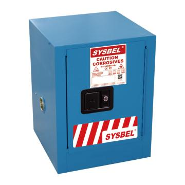 西斯贝尔SYSBEL 弱腐蚀性液体安全柜,CE认证,4加仑/15升,蓝色/手动,不含接地线,WA810040B