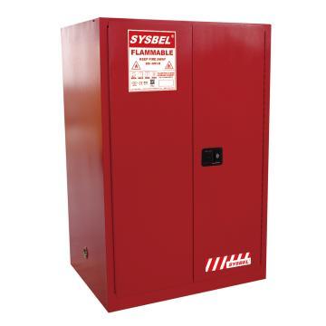 西斯贝尔SYSBEL 可燃液体安全柜,FM认证,90加仑/340升,红色/手动,不含接地线,WA810860R