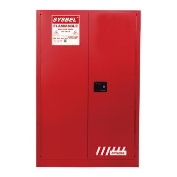西斯贝尔SYSBEL 可燃液体安全柜,FM认证,45加仑/170升,红色/手动,不含接地线,WA810450R