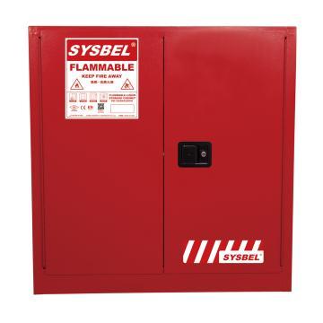 西斯贝尔SYSBEL 可燃液体安全柜,FM认证,30加仑/114升,红色/手动,不含接地线,WA810300R