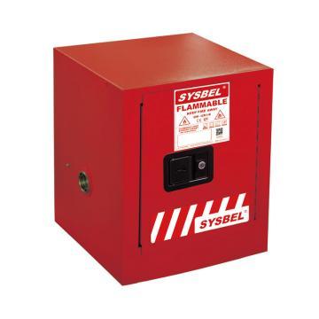 西斯貝爾SYSBEL 可燃液體安全柜,CE認證,4加侖/15升,紅色/手動,不含接地線,WA810040R
