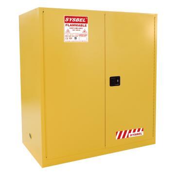 西斯贝尔SYSBEL 易燃液体安全柜-油桶型,CE认证,115加仑/434升,黄色/手动,不含接地线,WA810115