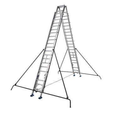 稳耐 双面伸缩式人字梯,踏台数:26,额定载荷(KG):100,工作高度(米):6.9,DE1526-2CN