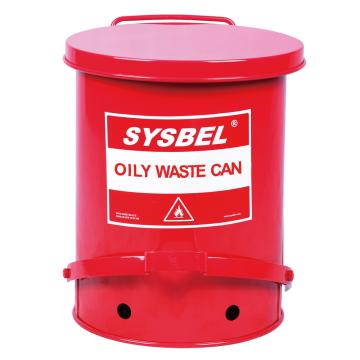 防火垃圾桶,SYSBEL 油渍废弃物防火垃圾桶,21加仑/79.3升,WA8109700
