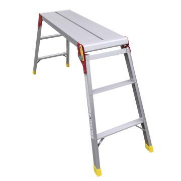 金锚 铝合金平台梯,额定载荷(KG):150,平台1.0长度X高度(米):1.0X0.74,LFD90AL10X