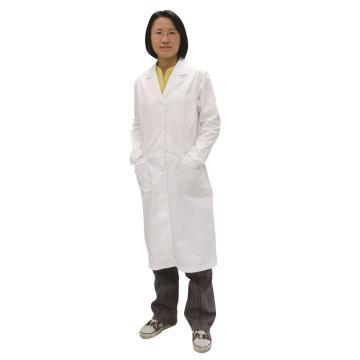 长袖全棉女式大褂,白色,175/XL