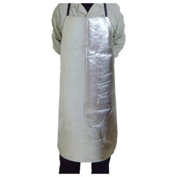 富力 隔热围裙,W9570LB,铝箔耐高温防辐射1000度围裙