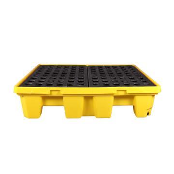 西斯贝尔 聚乙烯四桶盛漏托盘,适用于叉车,四向操作,SPP104(SPP304升级版)