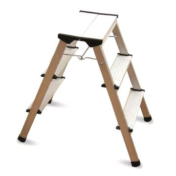 金锚 铝合金梯凳,踏板数:3,额定载荷(KG):150,工作高度(米):0.66,LFD66AL