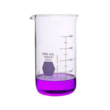 KIMBLE高型烧杯具嘴,600ml,玻璃