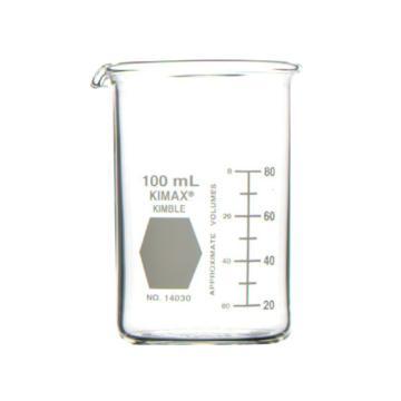 KIMBLE高型烧杯具嘴,100ml,玻璃