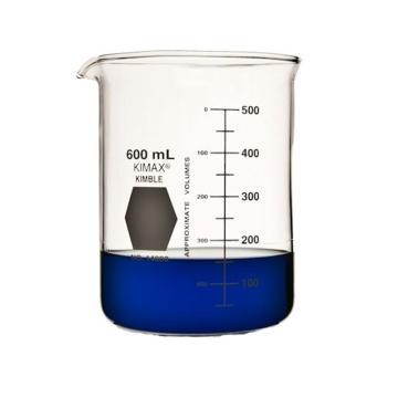 KIMBLE低型烧杯,600ml,玻璃