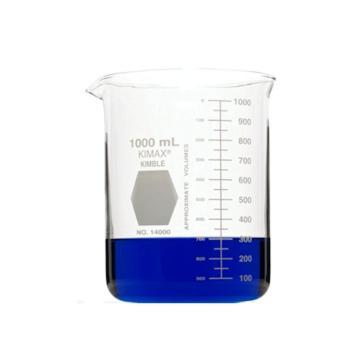低型烧杯KIMBLE AK14000-01000 1000ml 玻璃