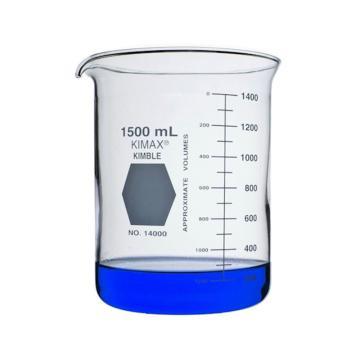 KIMBLE低型烧杯,1500ml,玻璃