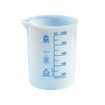 BRAND烧杯,低型,ETFE材质,1000: 100ml