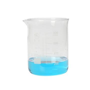 低形烧杯,800ml,6个/盒