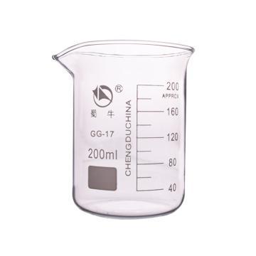 低形烧杯,200ml,10个/盒