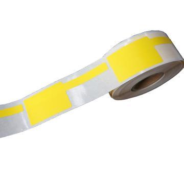 璞趣 P型線纜標簽, 25MM*38MM+40MM尾簽 黃色 180張/卷 適配璞趣標簽打印機 單位:卷