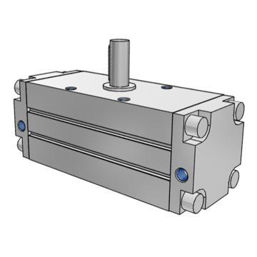 "SMC 齒輪齒條式擺動氣缸,缸徑80mm,角度90°,接管Rc1/4"",CDRA1BSH80-90Z"