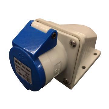 威浦 TYP系列明装工业插座,3P 16A 230V IP44 蓝色,6601,10只/盒