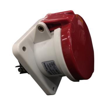 威浦TYP系列暗装直式工业插座,5P 63A 400V IP44 红色,5923