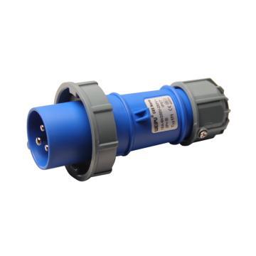 威浦TYP系列工业插头,3P 16A 230V IP67 蓝色,171
