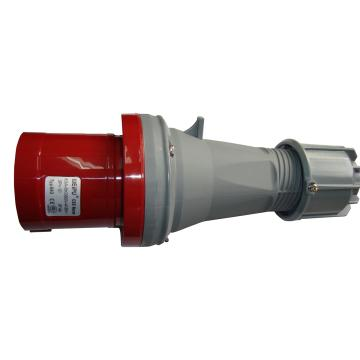 威浦TYP系列工业插头,4P 63A 400V IP44 红色,643
