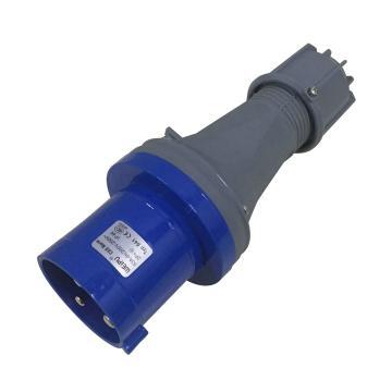 威浦TYP系列工业插头,3P 63A 230V IP44 蓝色,641