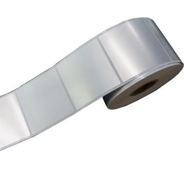 璞趣 仿鋁平面標簽, 50MM*50MM 銀色 280張/卷 適配璞趣標簽打印機 單位:卷