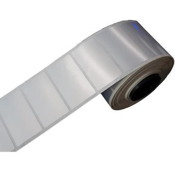 璞趣 仿鋁平面標簽, 45MM*25MM 銀色 550張/卷 適配璞趣標簽打印機 單位:卷