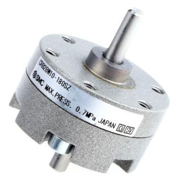 SMC 叶片式摆动气缸,缸径10mm,角度180°,接管M3x0.5,CRB2BW10-180SZ