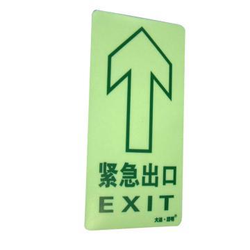 自发光疏散指示地贴-紧急出口EXIT 方形 150*300mm 一般亮度
