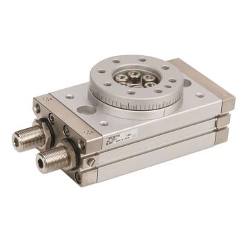SMC 齒輪齒條式擺動擺臺,缸徑15mm,接管尺寸M5x0.8,MSQB10A