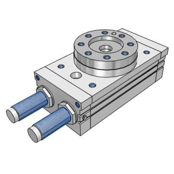 SMC 齒輪齒條式擺動擺臺,缸徑15mm,接管尺寸M5x0.8,MSQB10R