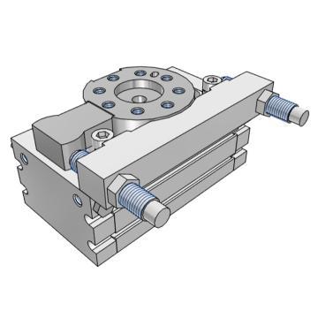 SMC 齒輪齒條式擺動擺臺,缸徑15mm,接管尺寸M5x0.8,MSQB10L2