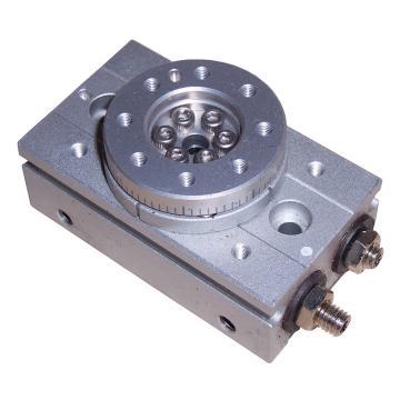 SMC 齒輪齒條式擺動擺臺,缸徑10mm,接管尺寸M3x0.5,MSQB3AE
