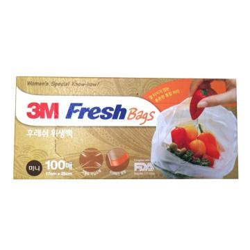 3M食品保鲜袋小 透明 100个/盒