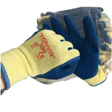 TOWA 天然橡胶涂层手套,NO.300,天然橡胶手套 LL