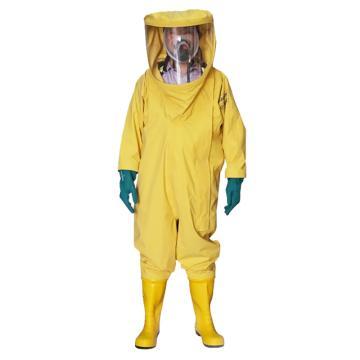 海固2NL二级全封闭轻型防化服,含手套及胶靴,M