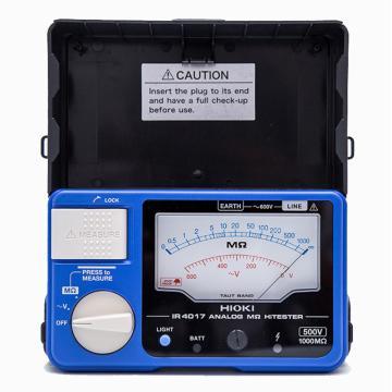 日置/HIOKI 兆欧表,单量程500V测试电压,指针显示,IR4017-20