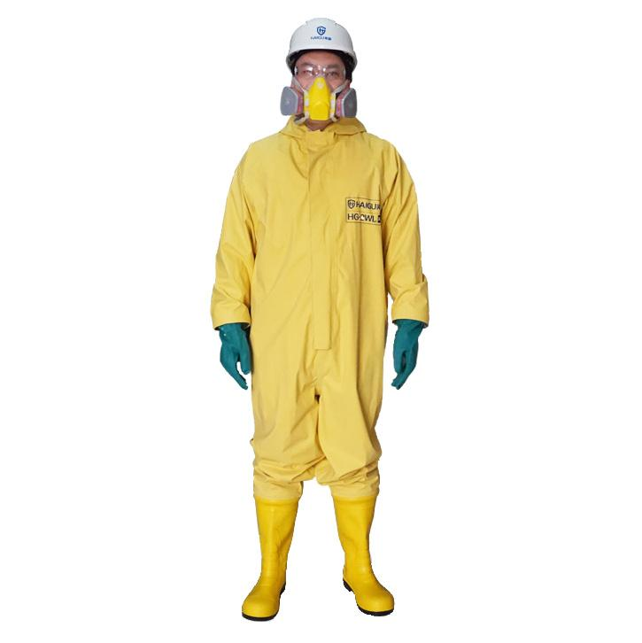 海固2WL二级半封闭轻型防化服,含手套及胶靴,M
