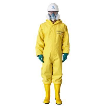 海固2WP二级半封闭轻型防化服,含手套及胶靴,XL
