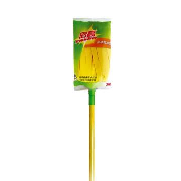 3M思高新一拖净吸水型拖把,黄色