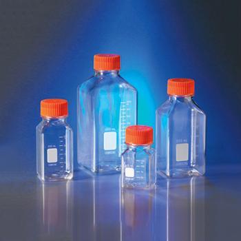 500ml方形瓶,PET材质,45mm盖,12个/包