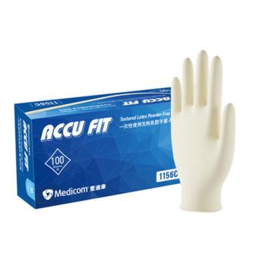 高弹型乳胶手套,无粉,大号(100只/盒,10盒/箱)