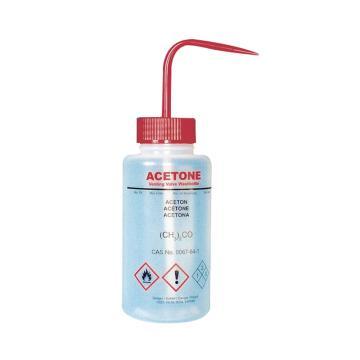 BRAND洗瓶,PE-LD材质,250ml,用于丙酮,带阀门,5个/包