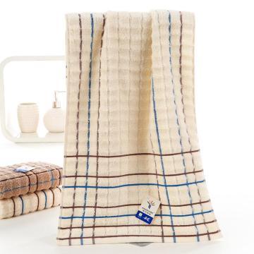 金号 纯棉毛巾吸水方格面巾   84gg 70*34cm 颜色随机